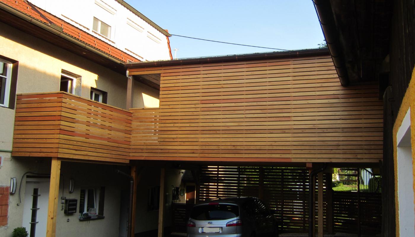 Carport lounge holzbau freim ller for Carport detail