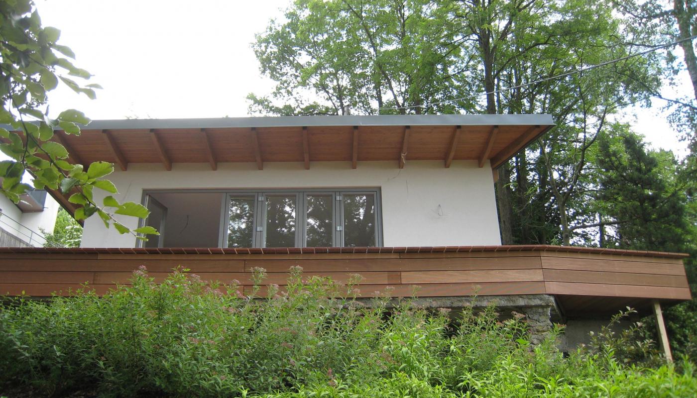 Gartenhaus Holzriegelbauweise