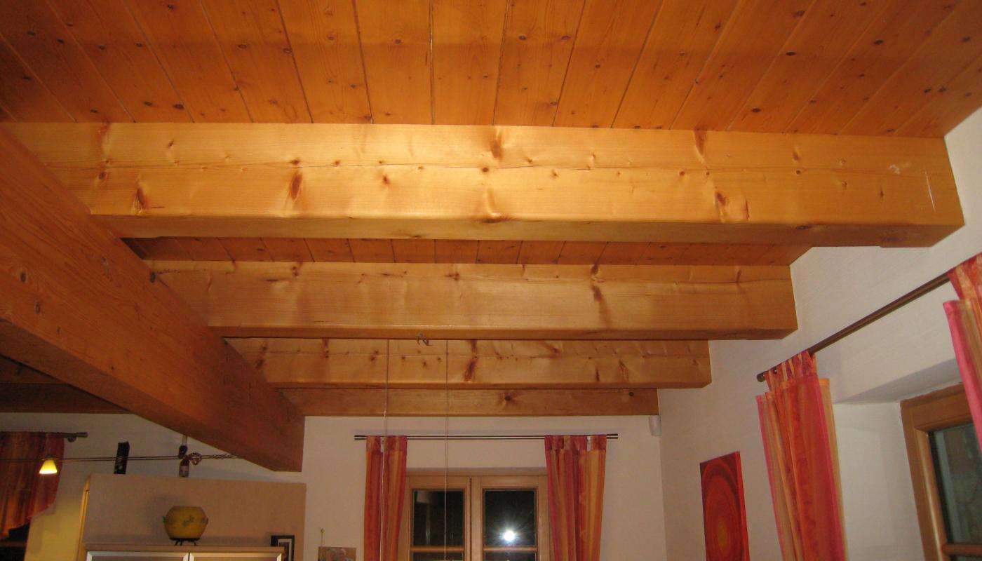 Holztramdecke
