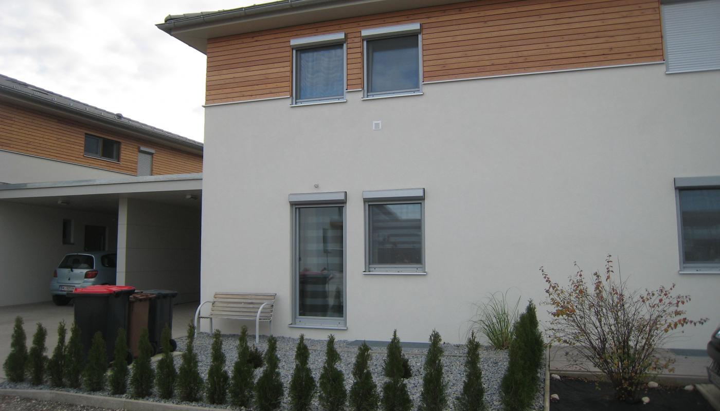 Doppelwohnhaus in Holzriegelbauweise