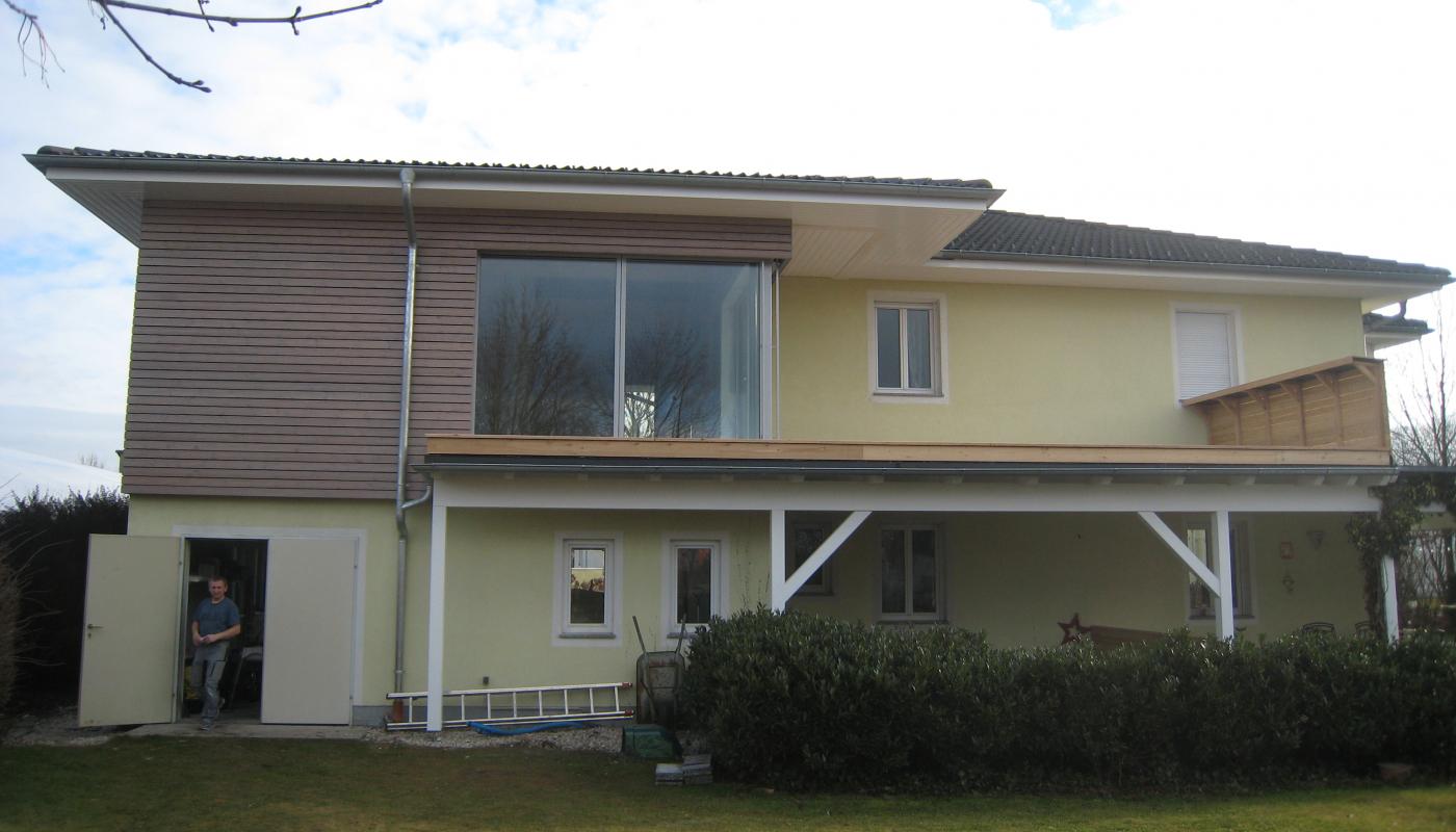 Zubau Wohnhaus in Holzriegelbauweise